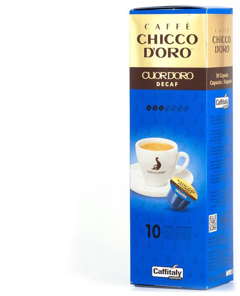 chicco doro koffeinfreier kaffee enkoffeiniert 10 kapseln caffitaly