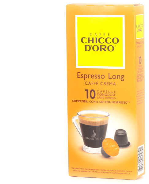 chicco doro kaffee espresso long 10 kapseln nespresso kompatibel