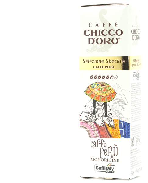 chicco doro single origin kaffee peru 10 kapseln caffitaly
