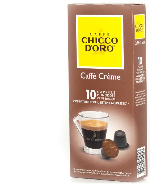 chicco doro kaffee creme 10 kapseln nespresso kompatibel