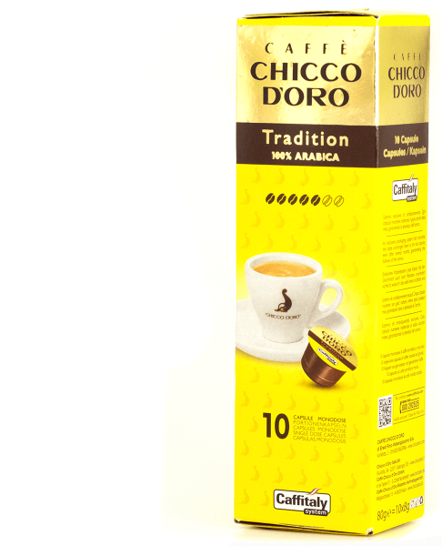 chicco doro kaffee tradition arabica 10 kapseln caffitaly