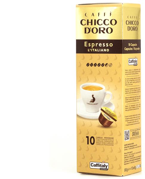chicco doro kaffee espresso italiano 10 kapseln caffitaly