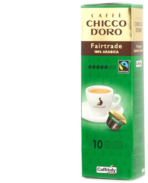 chicco doro bio fairtrade kaffee 10 kapseln caffitaly