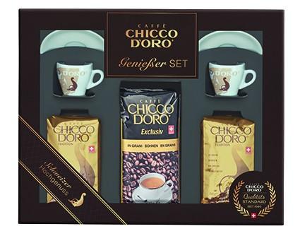 Chicco d'Oro Geschenkset 3 | Exclusiv und Tradition in Bohnen, Espresso Tassen